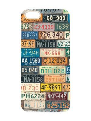 Чехол для iPhone 5/5s Авто-номера Арт. IP5-018 Chocopony. Цвет: белый, черный, синий, зеленый, красный, желтый