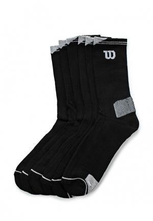 Комплект носков 6 пар Wilson. Цвет: черный