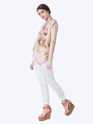 Блузка LO. Цвет: персиковый