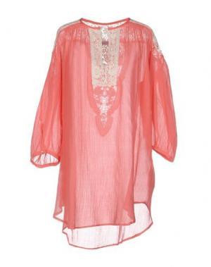 Блузка CHRISTOPHE SAUVAT. Цвет: коралловый
