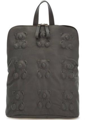 Сумка-рюкзак с одним отделом на молнии Io Pelle. Цвет: серый
