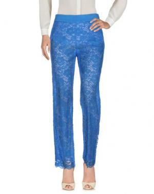 Повседневные брюки MARTA PALMIERI. Цвет: ярко-синий