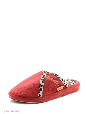 Тапочки женские Dream Feet. Цвет: красный