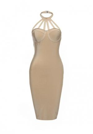 Платье Manosque. Цвет: бежевый