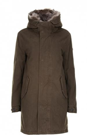 Куртка с капюшоном Lempelius. Цвет: зеленый