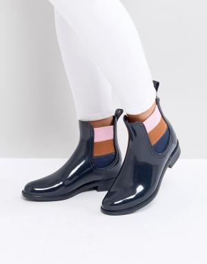 Tommy Jeans Резиновые ботинки. Цвет: черный
