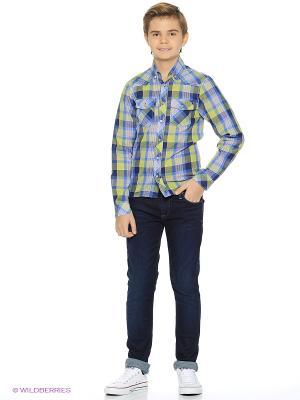 Рубашка Милашка Сьюзи. Цвет: голубой, салатовый