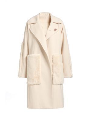 Пальто APART. Цвет: бежевый