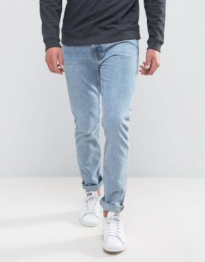 Weekday Голубые джинсы скинни Friday. Цвет: синий