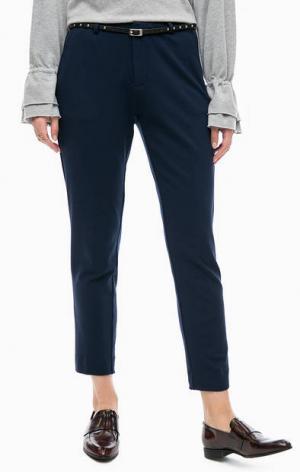 Синие брюки из вискозы на ремне Scotch&Soda. Цвет: синий