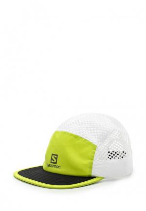 Бейсболка Salomon. Цвет: зеленый