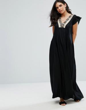 Raga Платье макси Moonlit Dance. Цвет: черный
