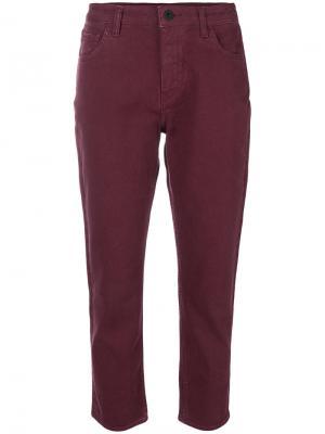Укороченные джинсы Giada Pence. Цвет: розовый и фиолетовый