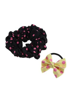Комплект резинок для волос Gusachi. Цвет: черный, розовый, желтый