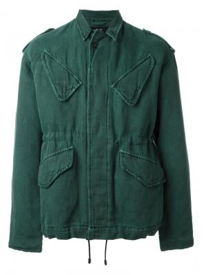 Куртка с карманами Haider Ackermann. Цвет: зелёный