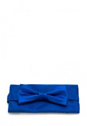 Комплект бабочка и платок Greg. Цвет: синий