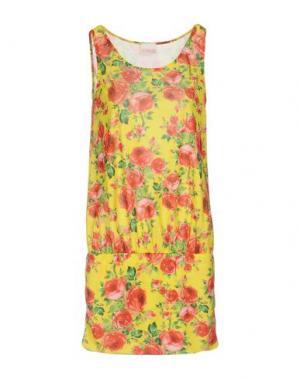 Короткое платье MISS NAORY. Цвет: желтый