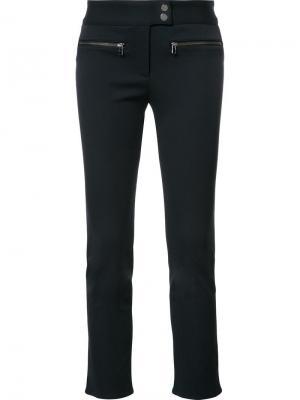 Укороченные брюки с карманами на молнии Veronica Beard. Цвет: синий