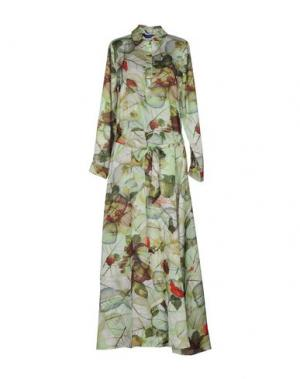 Длинное платье ANONYME DESIGNERS. Цвет: светло-зеленый