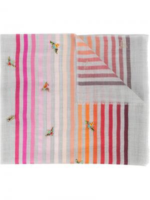 Beaded stripe scarf Janavi. Цвет: серый