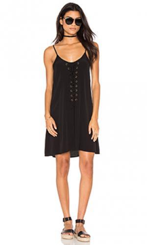 Платье со шнуровкой laila Bishop + Young. Цвет: черный