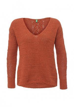 Пуловер United Colors of Benetton. Цвет: оранжевый