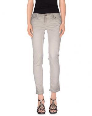 Джинсовые брюки JFOUR. Цвет: серый