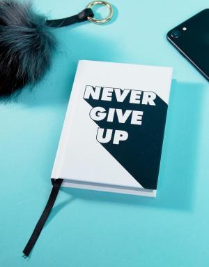Books Книга Never Give Up с вдохновляющими цитатами. Цвет: мульти