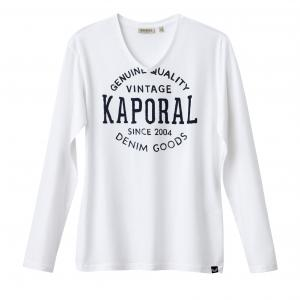 Футболка Tarzu с V-образным вырезом KAPORAL 5. Цвет: белый,черный