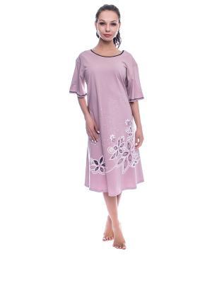Ночная сорочка NICOLETTA. Цвет: темно-бежевый