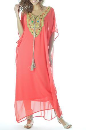 Платье ZEDD. Цвет: розовый