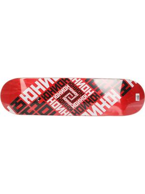 Профессиональный скейтборд Team Red, размер 8x31,625, конкейв Medium Юнион скейтборды. Цвет: черный, белый, красный