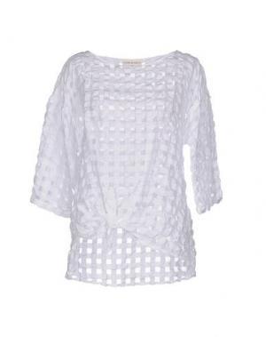 Блузка SONIA DE NISCO. Цвет: белый