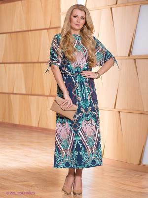 Платье МадаМ Т. Цвет: зеленый, темно-синий, бежевый