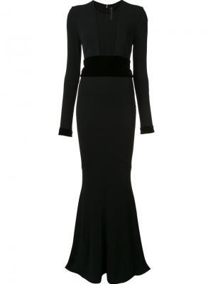 Платье с полупрозрачными вставками Alexandre Vauthier. Цвет: чёрный