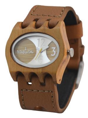 Часы Mistura KAMERA Brown/Teak/Bamboo. Цвет: коричневый