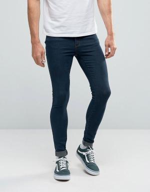 Dr Denim Супероблегающие джинсы Dixy. Цвет: темно-синий