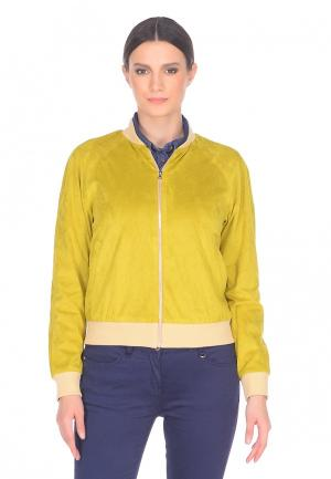 Куртка Lucky Move. Цвет: желтый