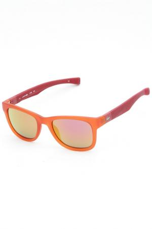 Очки солнцезащитные Lacoste. Цвет: оранжевый
