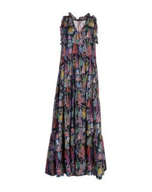 Длинное платье LEITMOTIV. Цвет: черный