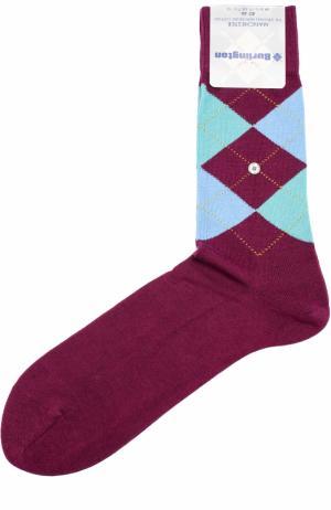 Хлопковые носки Manchester Burlington. Цвет: бордовый