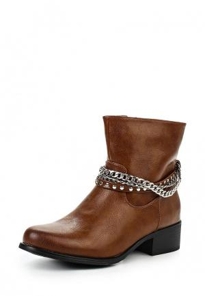 Полусапоги Style Shoes. Цвет: коричневый