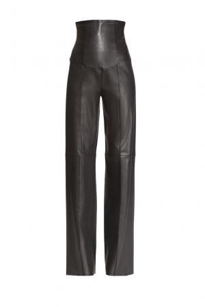 Кожаные брюки 160415 Jitrois. Цвет: черный