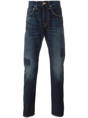 Прямые джинсы Ed-55 Edwin. Цвет: синий