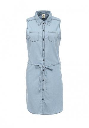 Платье джинсовое Emoi. Цвет: голубой