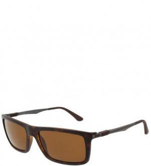 Солнцезащитные очки с коричневыми линзами Ray Ban. Цвет: коричневый