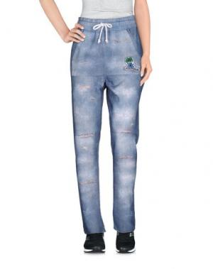 Повседневные брюки LA KASA DEI KOLORI. Цвет: лазурный