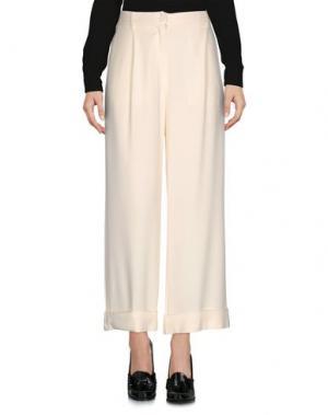 Повседневные брюки SUOLI. Цвет: слоновая кость