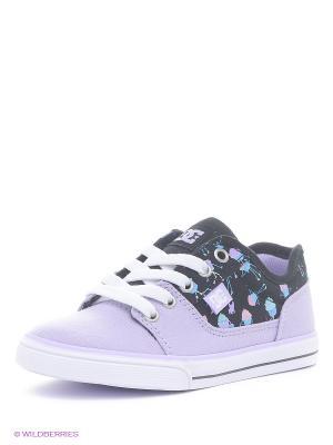Кеды DC Shoes. Цвет: сиреневый