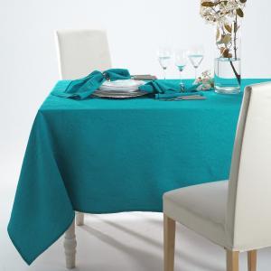 Скатерть из жатой ткани La Redoute Interieurs. Цвет: голубой бирюзовый,медно-оранжевый